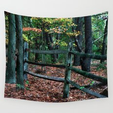 Forest Fence Wall Tapestry
