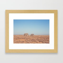 Elephants in South Africa Framed Art Print