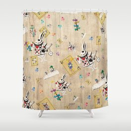 I'm Late I'm Late Shower Curtain