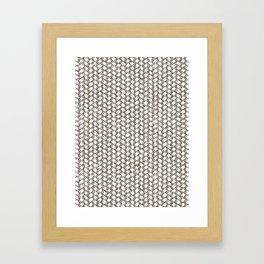 Flax Weave Framed Art Print