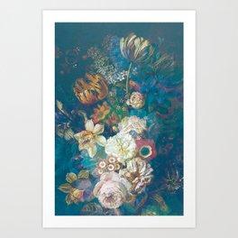 Vintage Spring Flowers Art Print