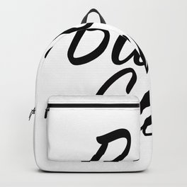 Babe Cave - White and Black Backpack