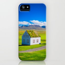 Traditional icelandic timber house iPhone Case