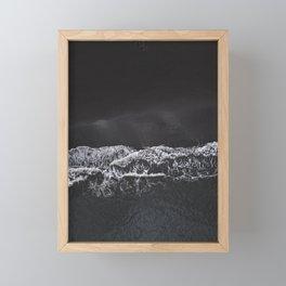 Black Sand Beach Framed Mini Art Print