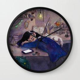 Sleepy Alchemist Wall Clock
