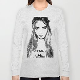 Cara Delevingne, playing with brushes. Long Sleeve T-shirt