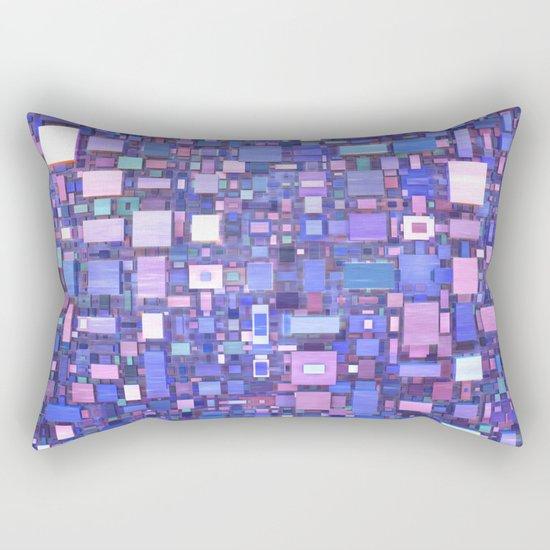 Blue Cubes Rectangular Pillow