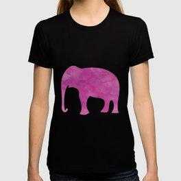 Watercolor Elephant Stampede Pretty Pattern T-shirt