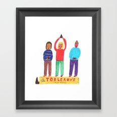 Toblerone. Framed Art Print