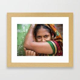 Colors of hidden smile Framed Art Print