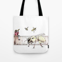 The Last Bee-Fence Tote Bag