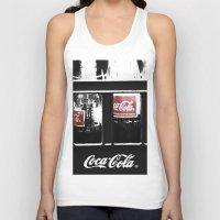 coca cola Tank Tops featuring coca cola by Crimson Crazed