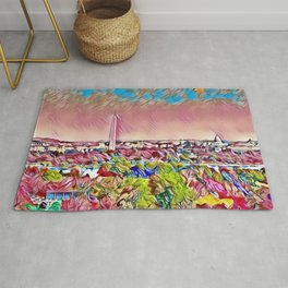 Washington, D.C., Capital Hill Mosaic Skyline landscape Rug