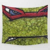 ninja turtles Wall Tapestries featuring Raphael (Teenage Mutant Ninja Turtles) by chris panila