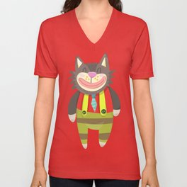 Cute Cat Unisex V-Neck