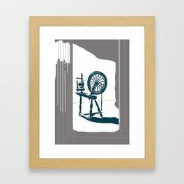 Rumplestiltskin - brother Grimm illustration Framed Art Print