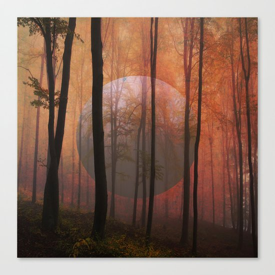Not From Here, Surreal Forest Canvas Print