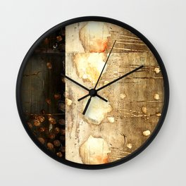 Brown and Beige Wall Clock