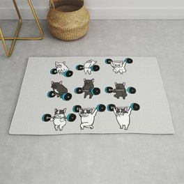 OLYMPIC LIFTING FRENCHIE Rug