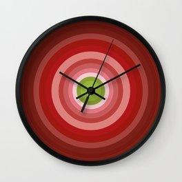 Beetroot Pink Circles Wall Clock
