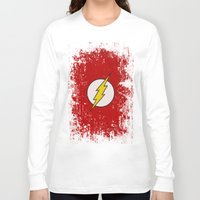 flash Long Sleeve T-shirts featuring Flash by Some_Designs
