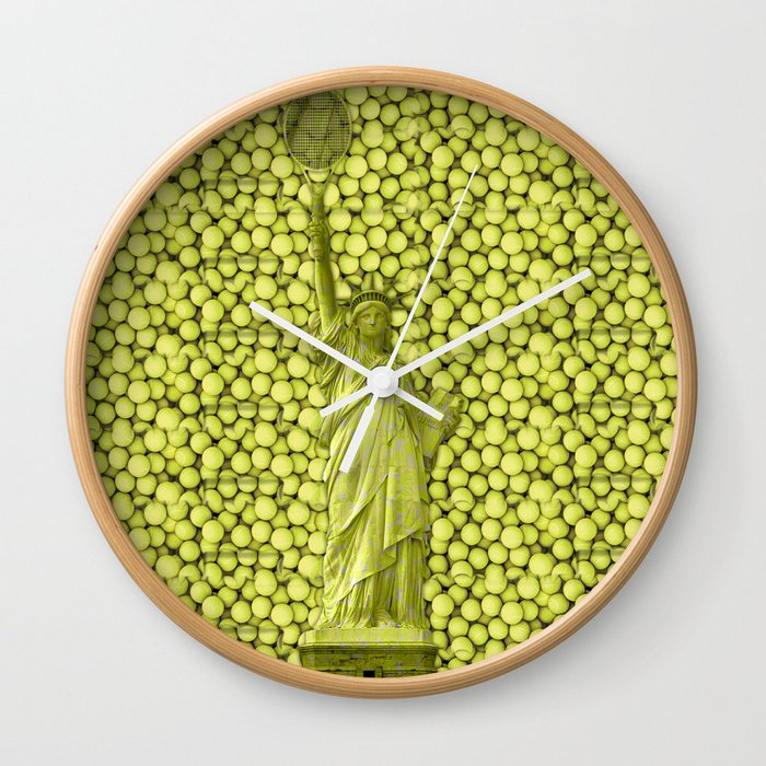 Statue of Liberty with Tennis Balls Wall Clock