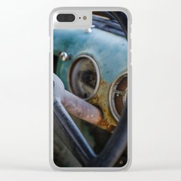 Behind the Old Steering Wheel Clear iPhone Case