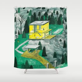 Night Houses Shower Curtain