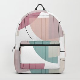 Mid Century Modern Colorful Backpack