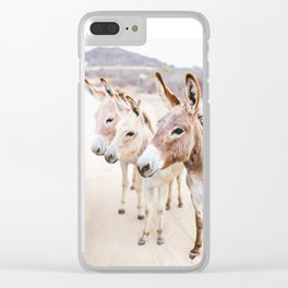Three Donkeys in Baja, Mexico Clear iPhone Case