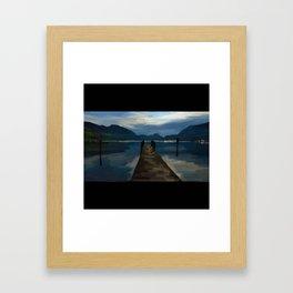 Lake Walkway - 216 Framed Art Print