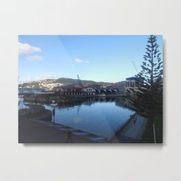 Wellington Waterfront - Boatshed Metal Print