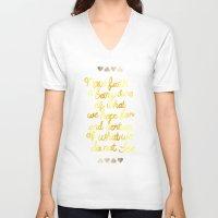 faith V-neck T-shirts featuring Faith  by Perrin Le Feuvre