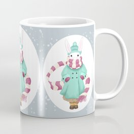 Bunny Sister Out On a Winter Day Coffee Mug