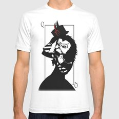 Courting the Crimson Queen  SMALL Mens Fitted Tee White