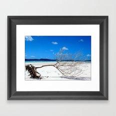 Whiteheaven Beach Framed Art Print