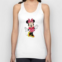 minnie mouse Tank Tops featuring Cute Minnie Mouse by Yuliya L