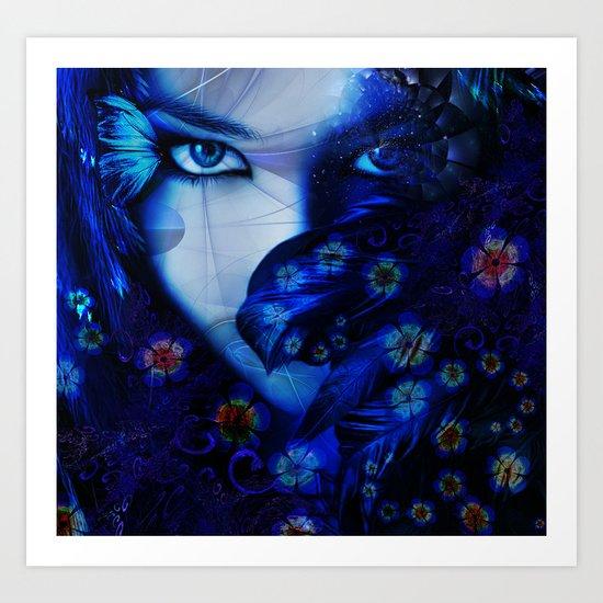 Blue Sapphire Art Print