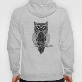 Patterned Owl Hoody