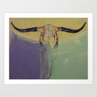 bull Art Prints featuring Bull by Michael Creese