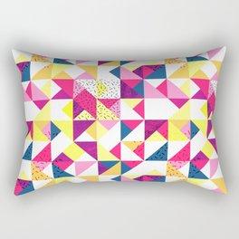 Bright Geometric Revive Funky Rectangular Pillow