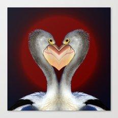 Pelican Love Canvas Print