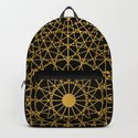 Geometric Circle Black and Gold by fimbis