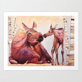 Eskimo Kiss Art Print