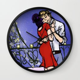 A Candlelit Date Wall Clock