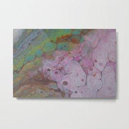 Cotton Candy Coral Metal Print
