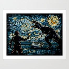 Jurassic Night Art Print