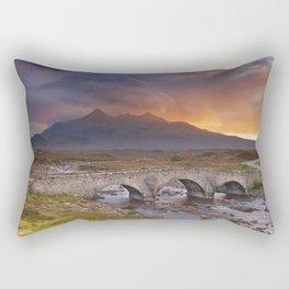 Sligachan Bridge and The Cuillins, Isle of Skye at sunset Rectangular Pillow