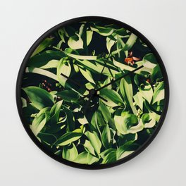 Large Leaves Wall Clock