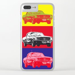 Mustang V8 1967 pop art inspired by A.W Clear iPhone Case
